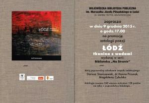 9 grudnia 2015 zaproszenie ŁÓDŹ tkanina z wadami